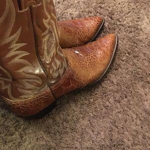 Vintage Justin's Sea Turtle Cowboy Boots
